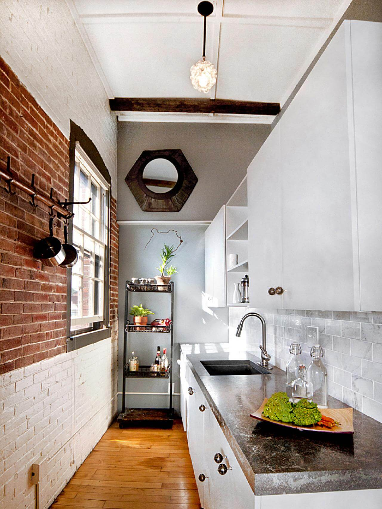 Simple, narrow kitchen cabinet