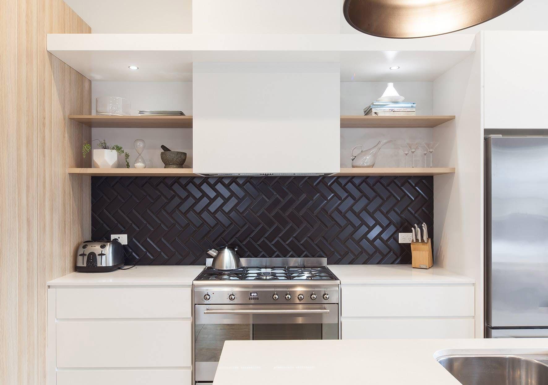 Minimalist kitchen shelf