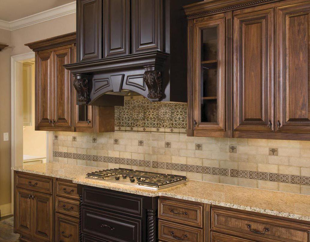 Antique dark kitchen cabinet