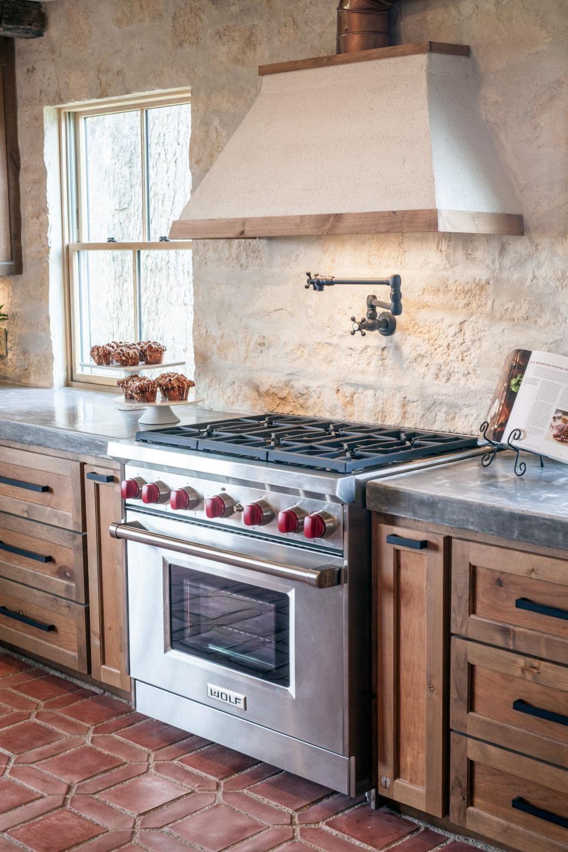 Traditional kitchen floor