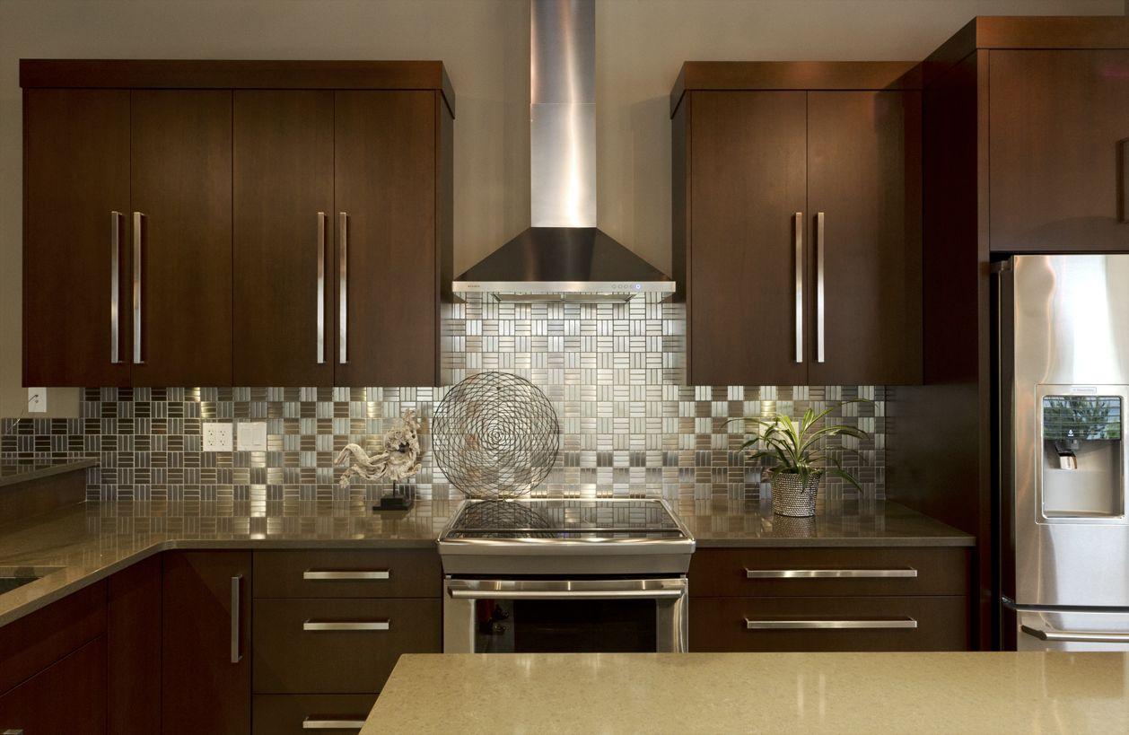 Modern dark kitchen cabinet