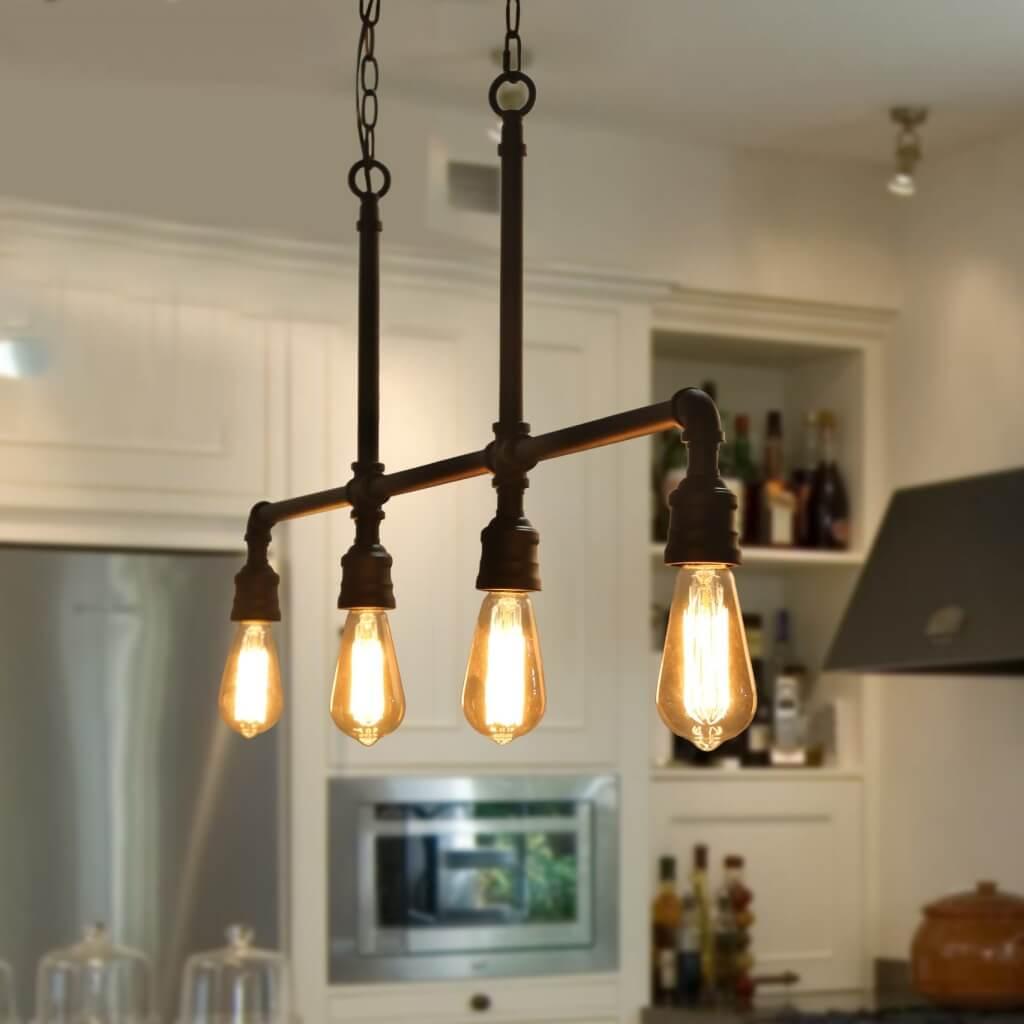 Tubular industrial kitchen lighting