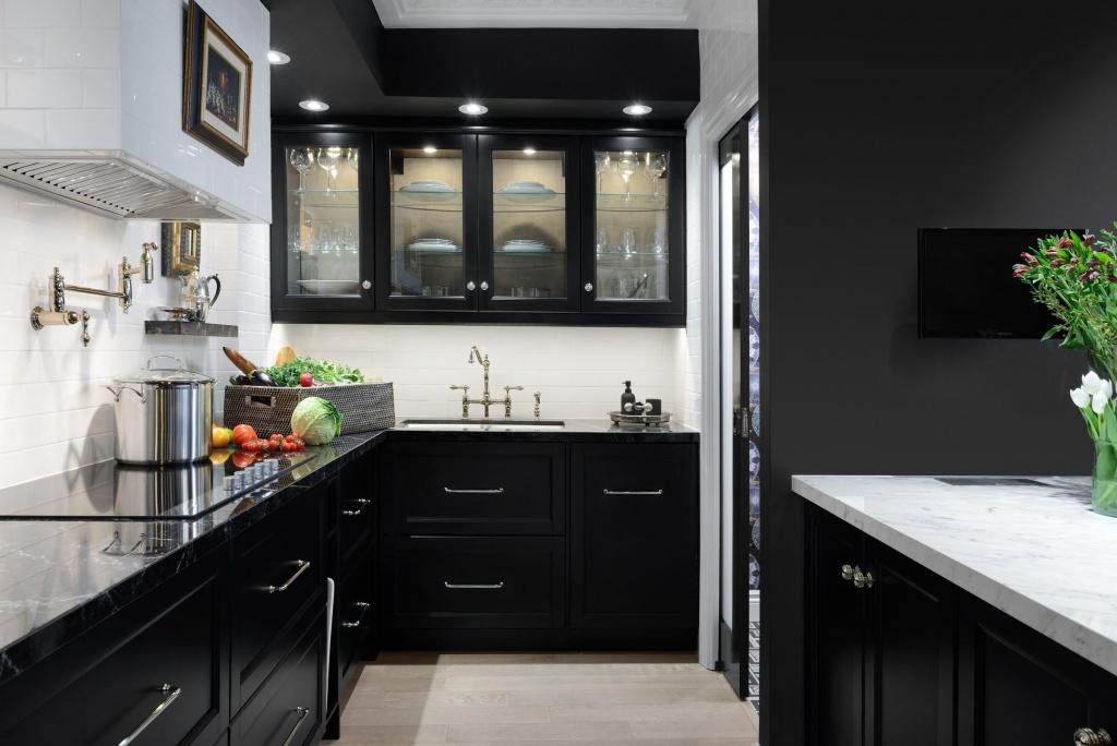 Elegant narrow kitchen cabinet
