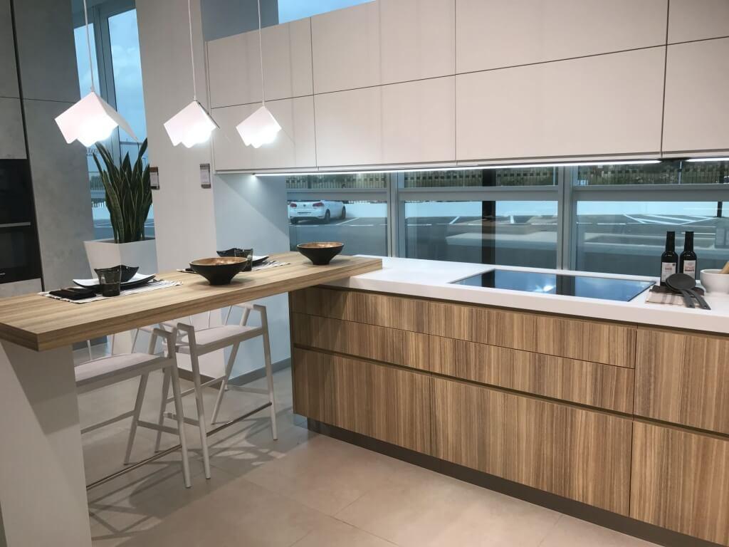 Minimalist kitchen island extension