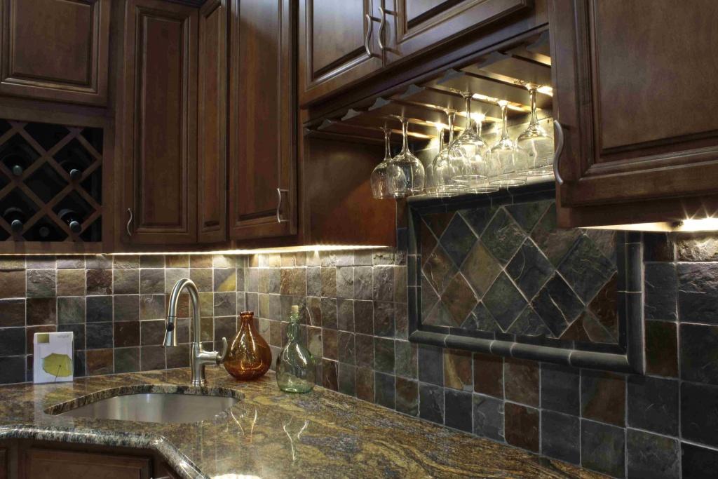 Creative dark kitchen cabinet