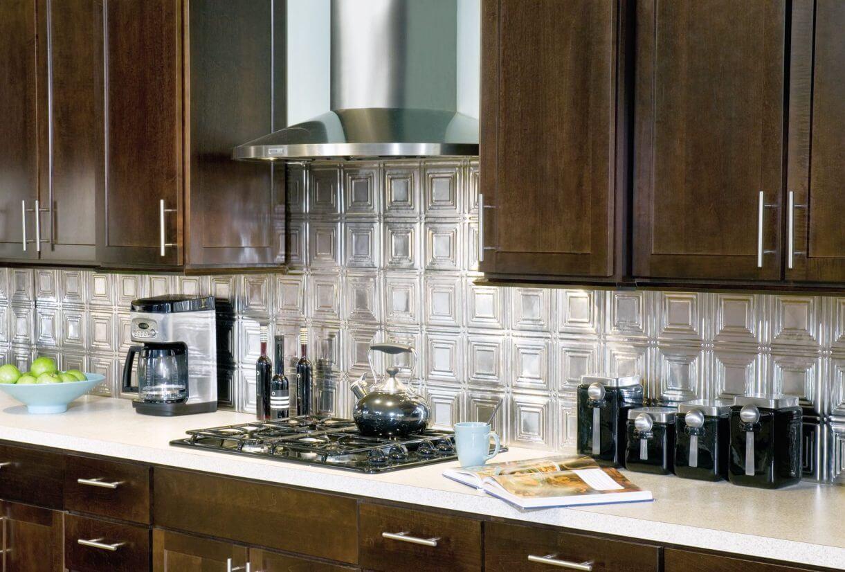 Simple dark kitchen cabinet
