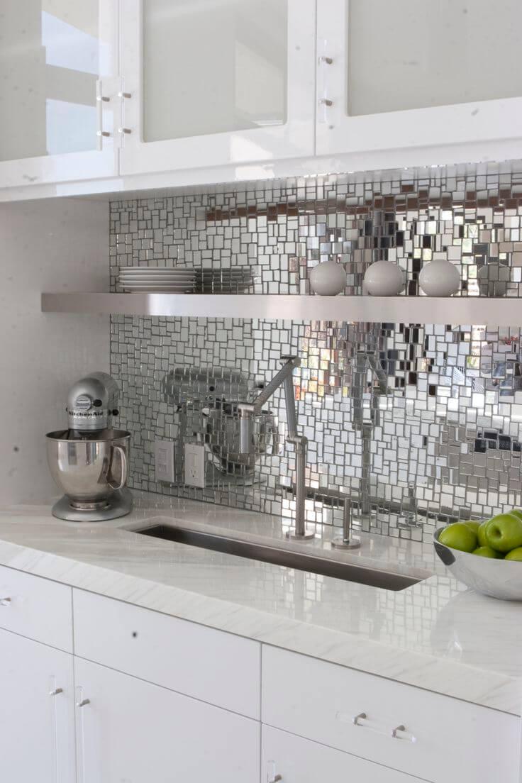 Futuristic, cool kitchen splashback