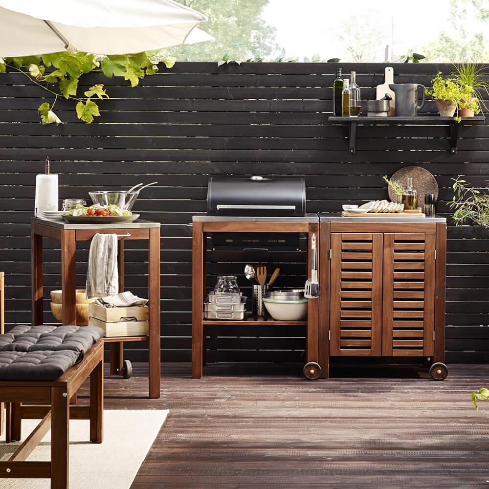 Portable outdoor kitchen island