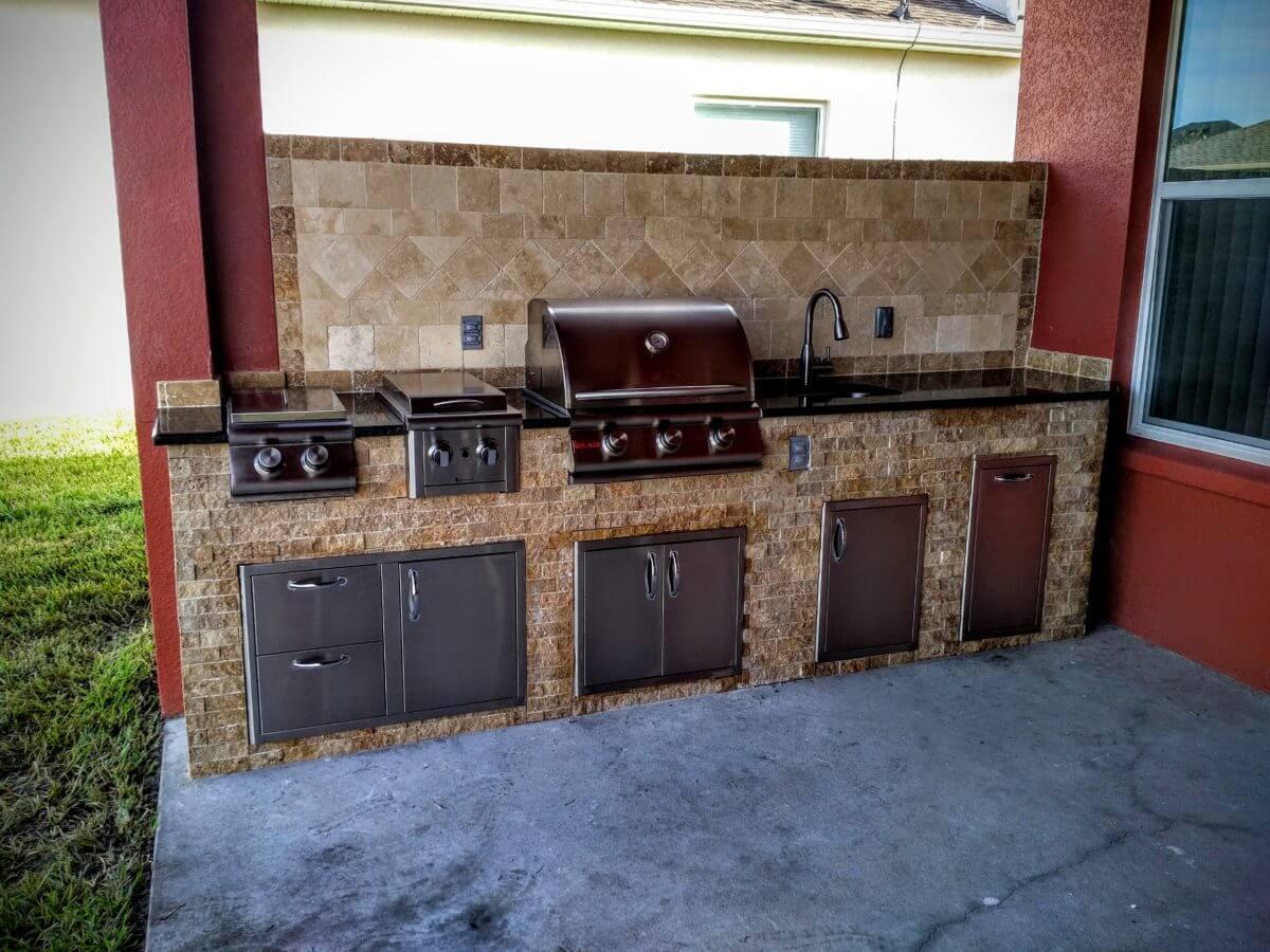 Cool outdoor kitchen sink