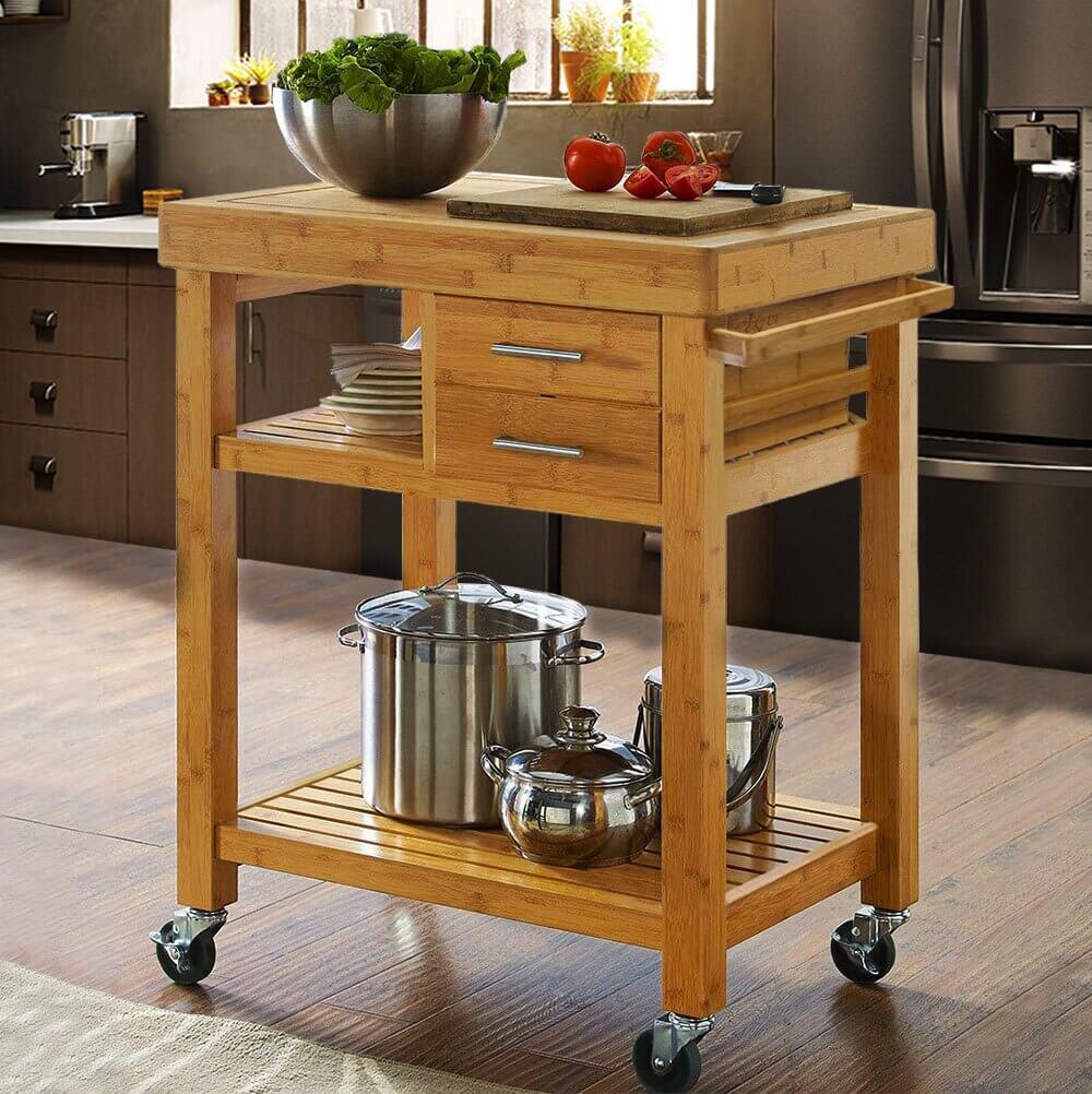 Intelligent kitchen island trolley