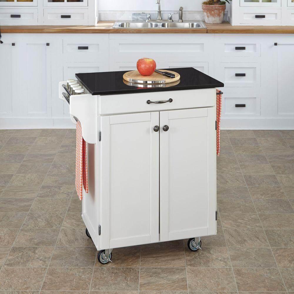 Simple kitchen island trolley