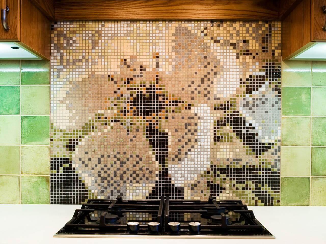 Super creative cool kitchen splashback