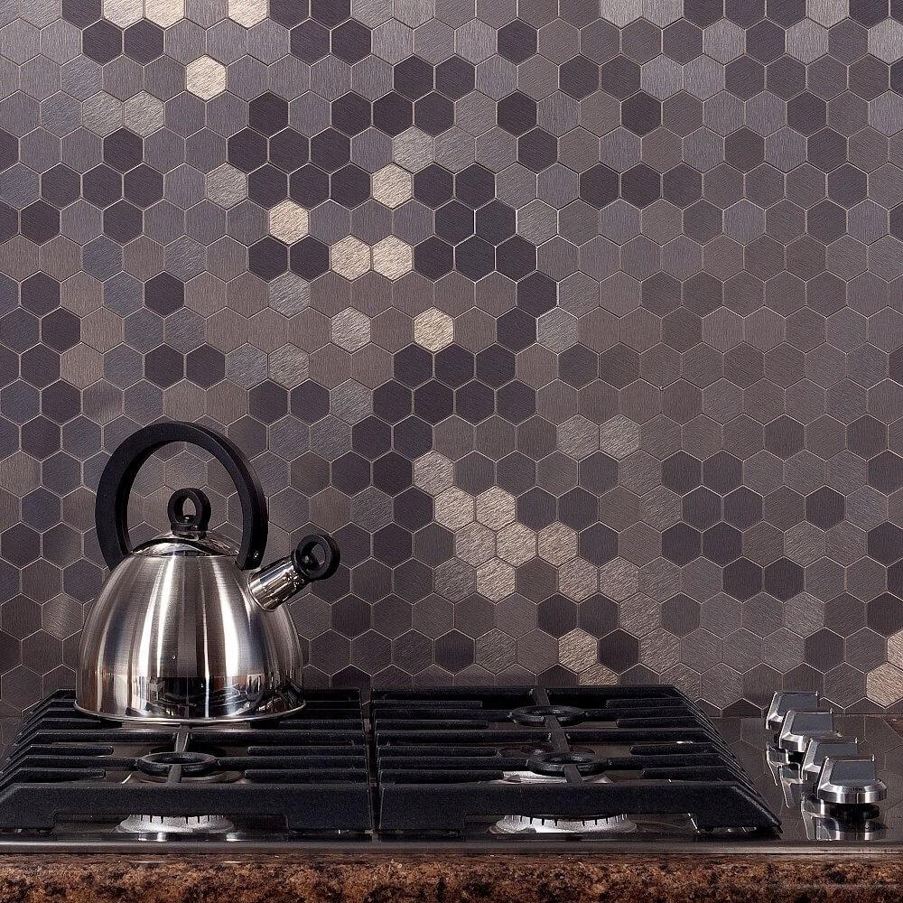 Incredibly cool kitchen splashback