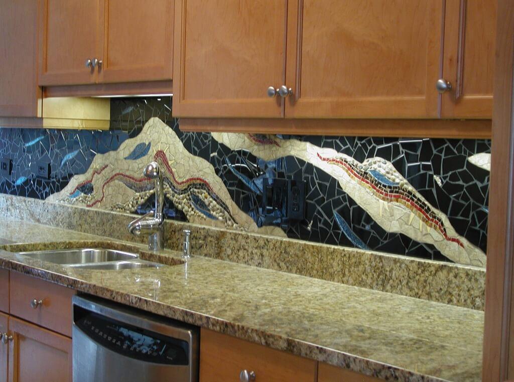 Extraordinary, cool kitchen splashback