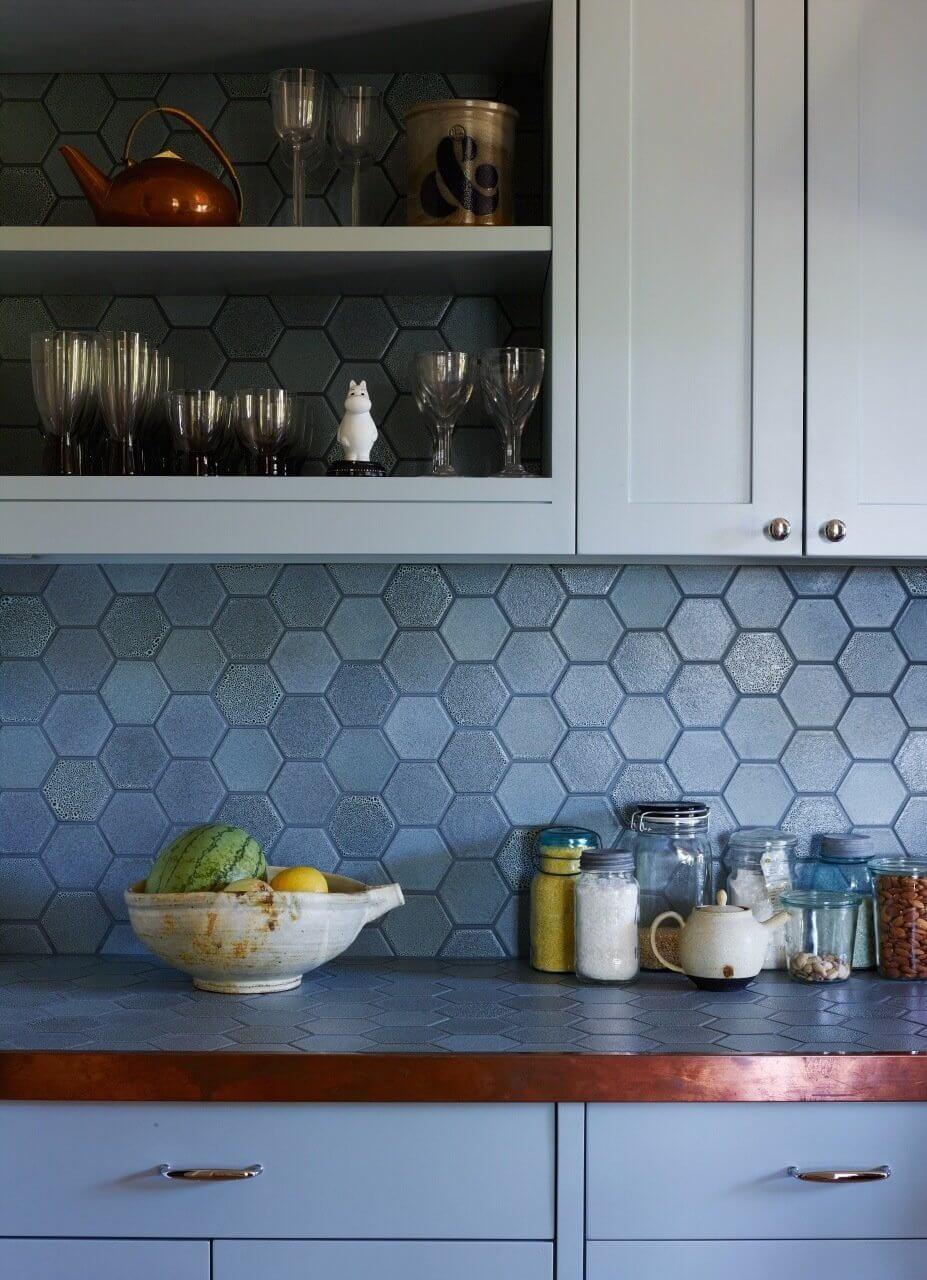 Creative modern kitchen splashback