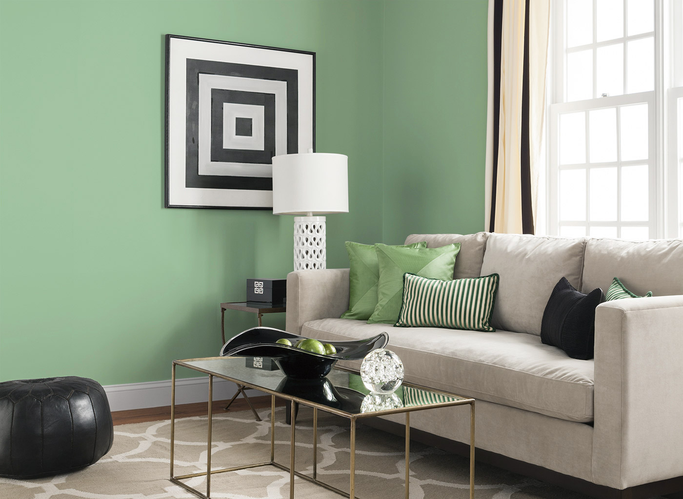 Soothing gray and green mini spot