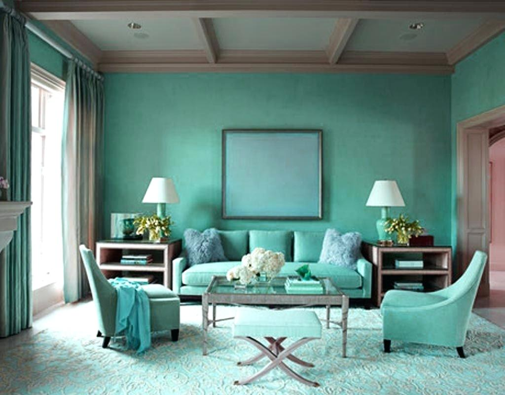 Brilliant living room in brown and turquoise