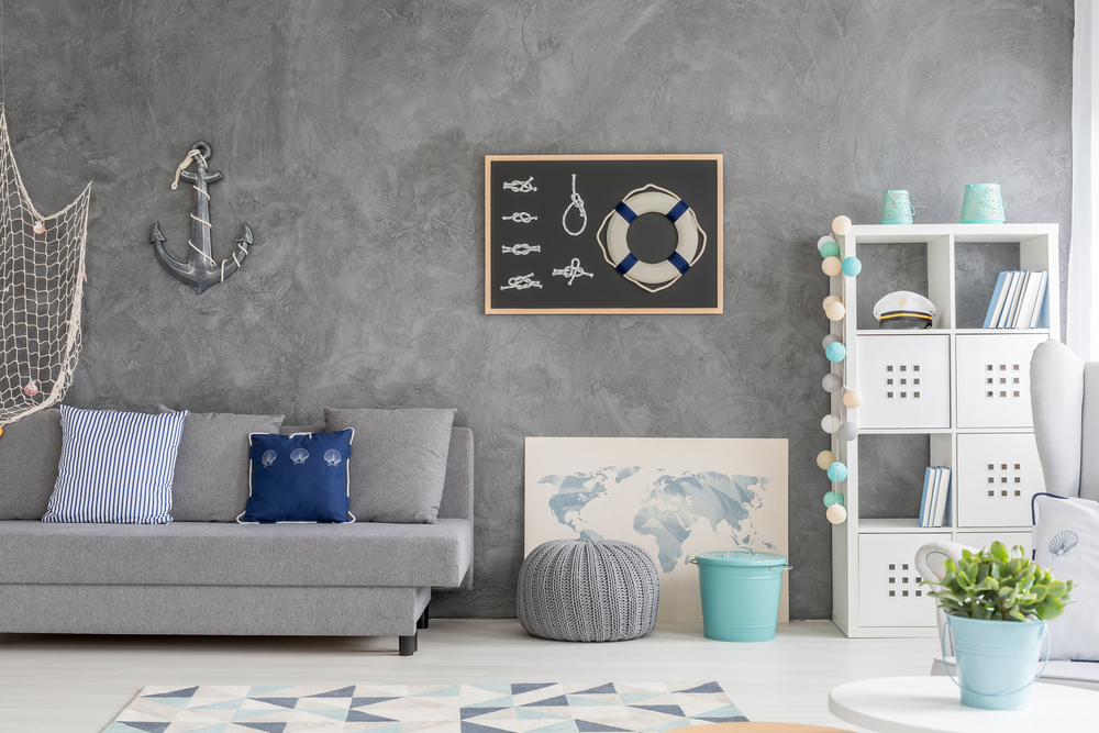 Nautical displays for living rooms