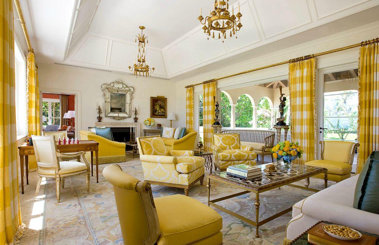 Imaginative yellow living room