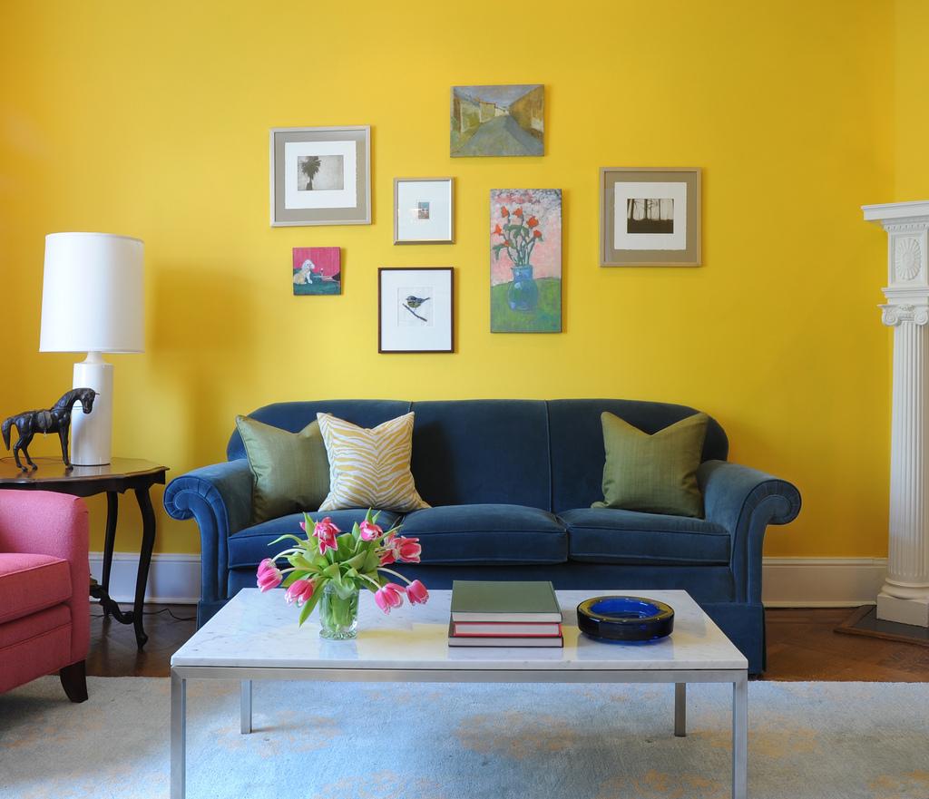 Nice yellow living room