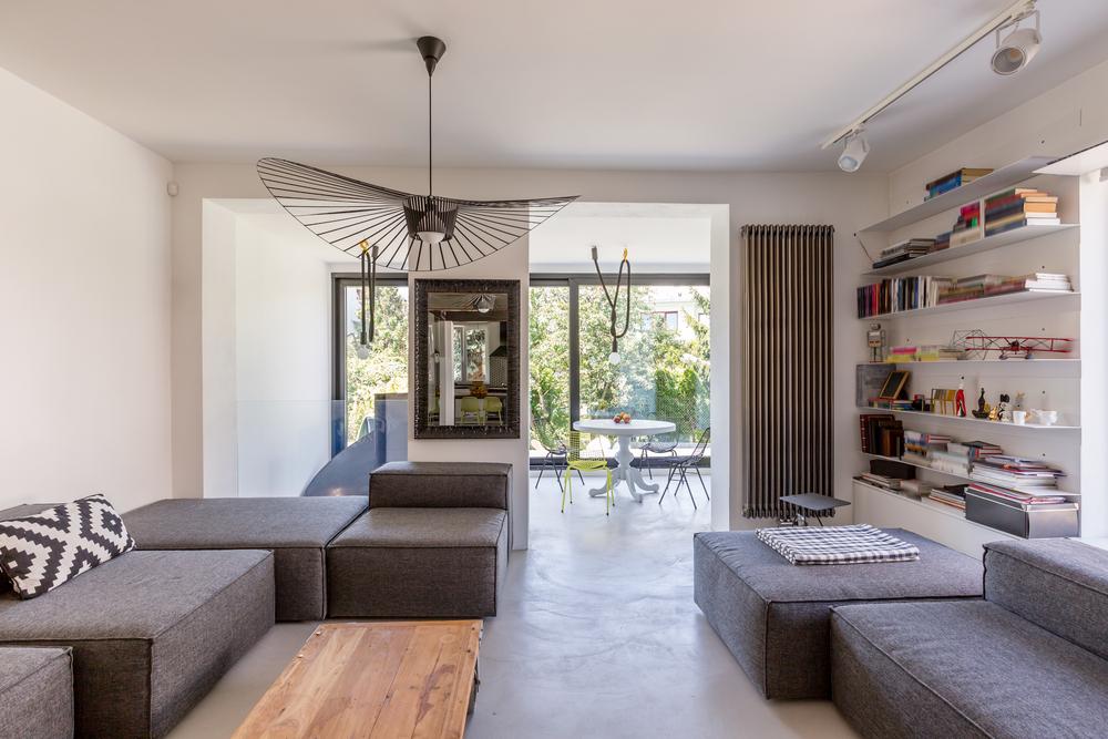 Illuminated long living room