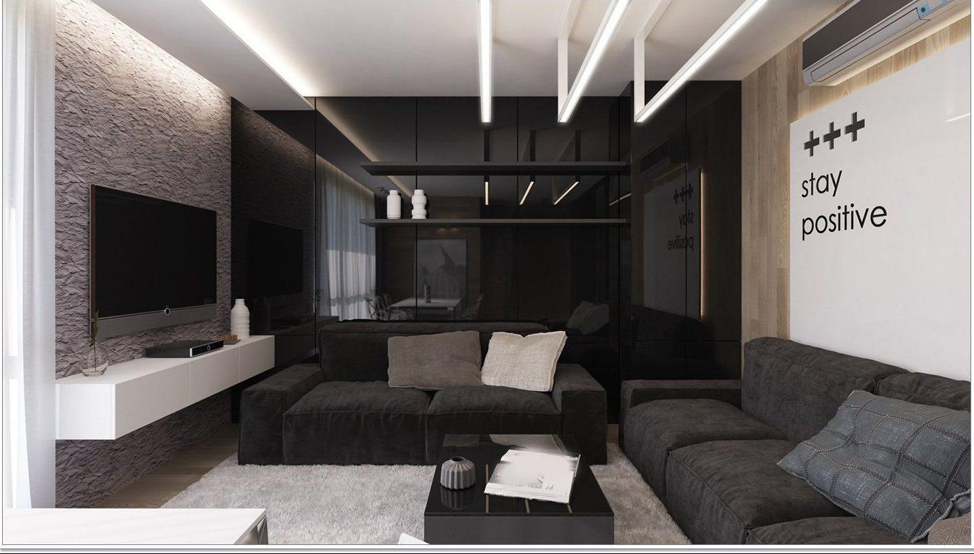 Casual black living room ideas