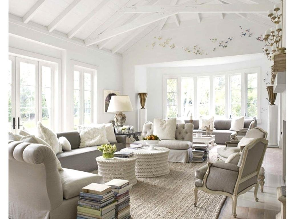 Clear French country house living room.
