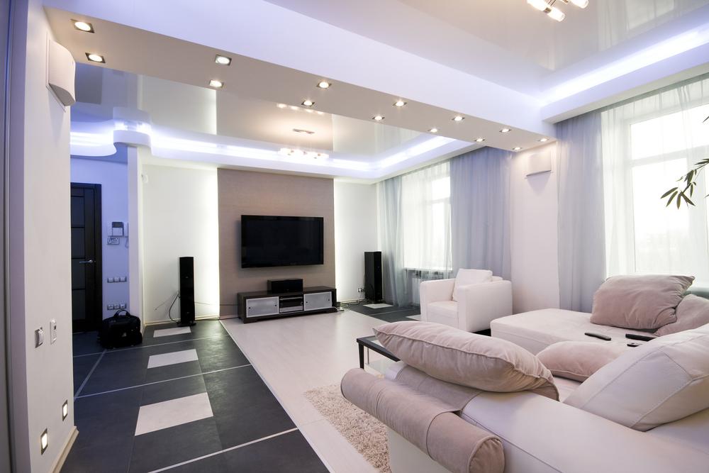 Streamlined long living room