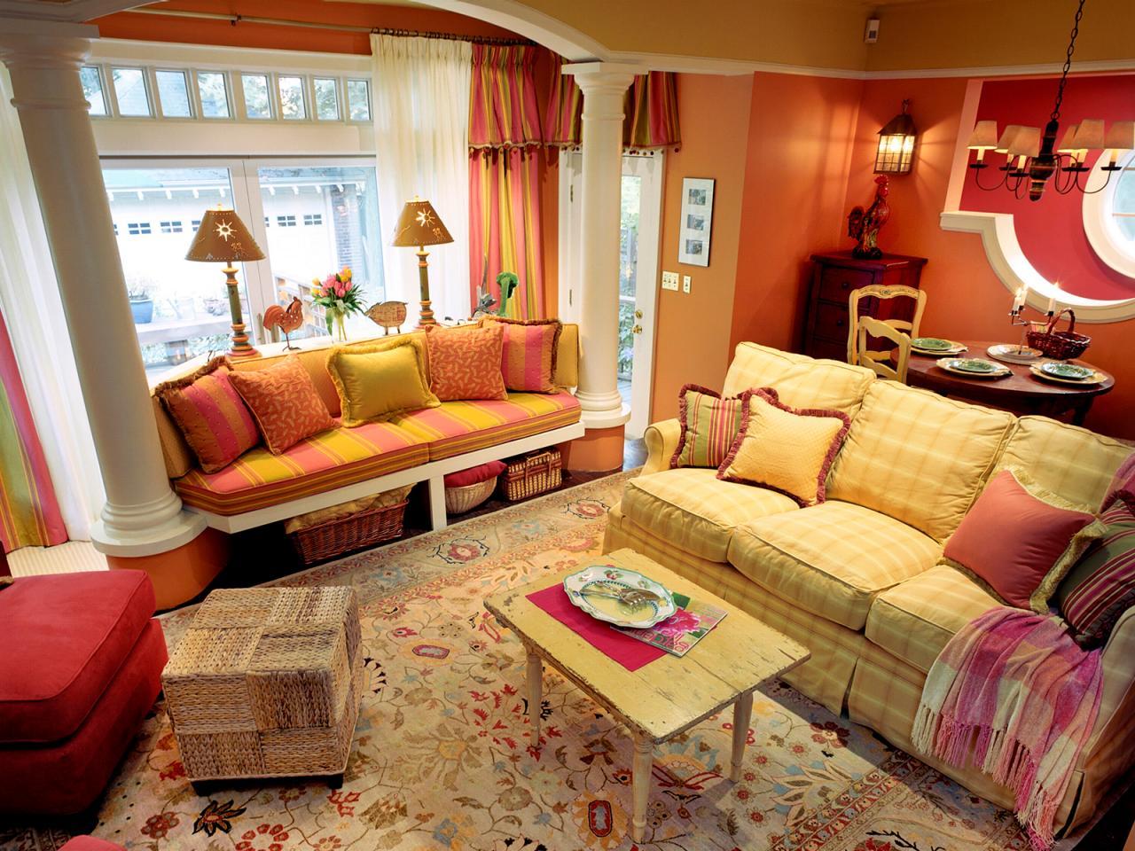 Beautiful orange living room