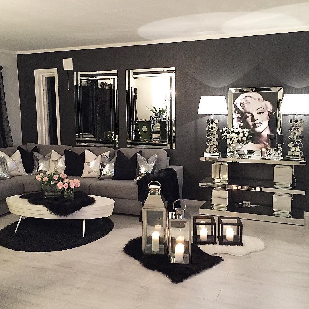 Fabulous black living room