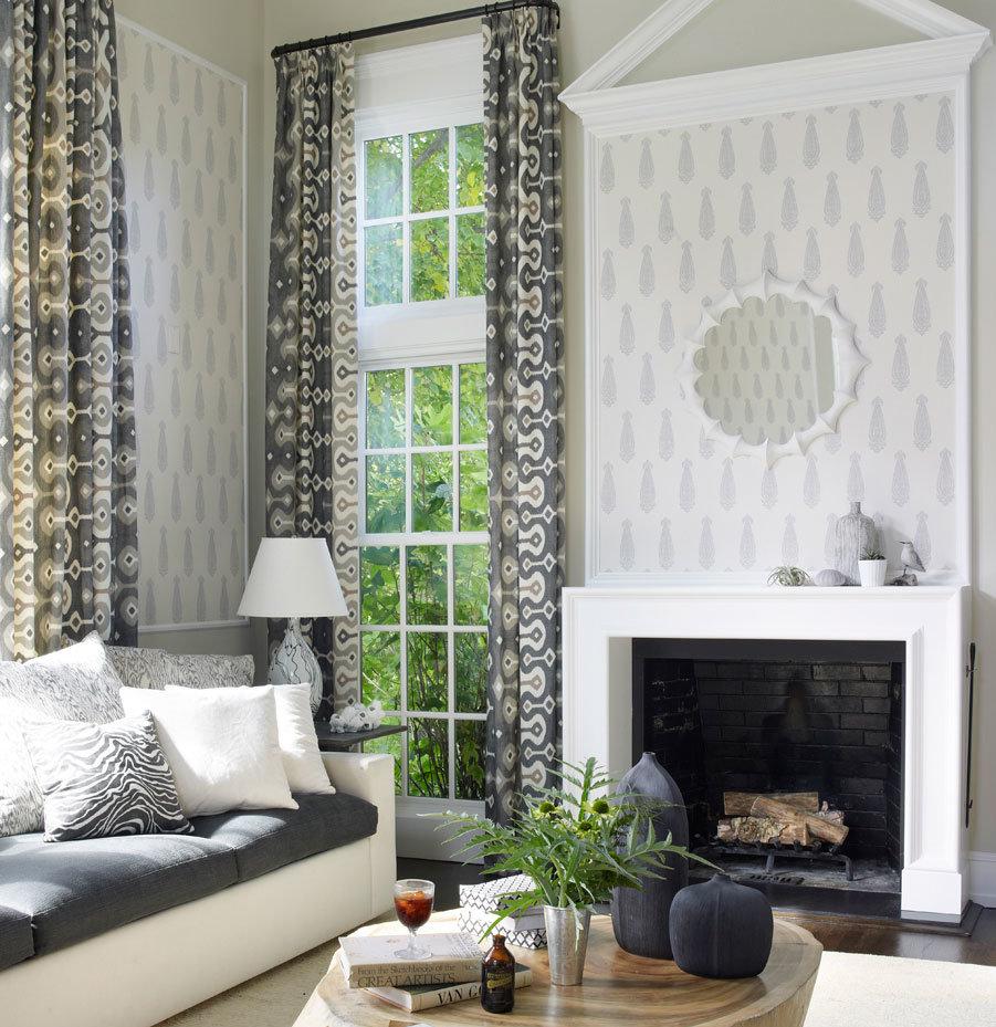 Classy elegant living room in neutral colors