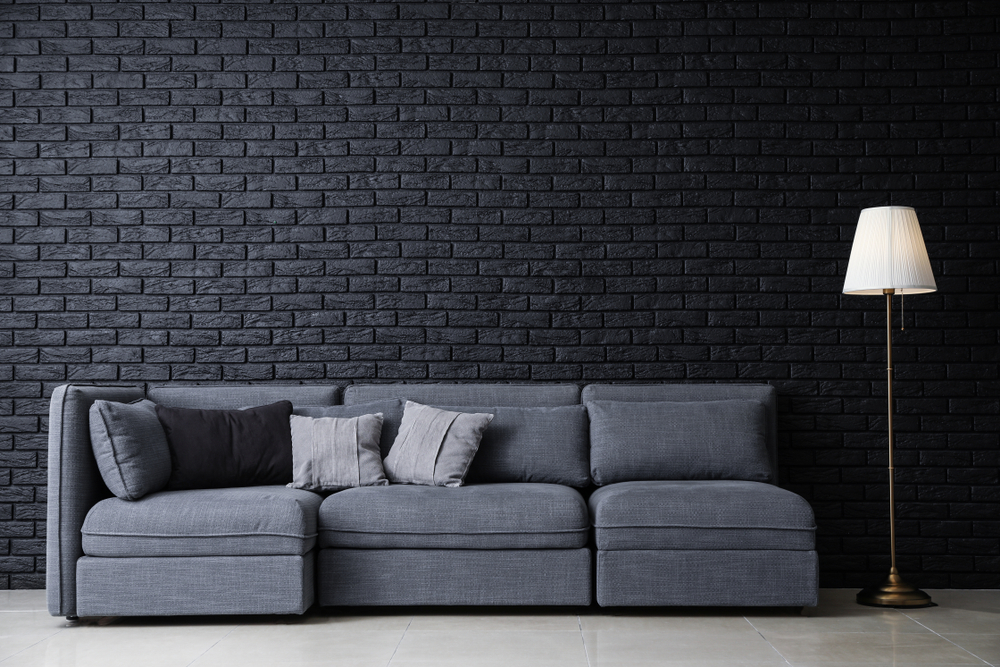 Simple, dark wallpaper for a dramatic feel
