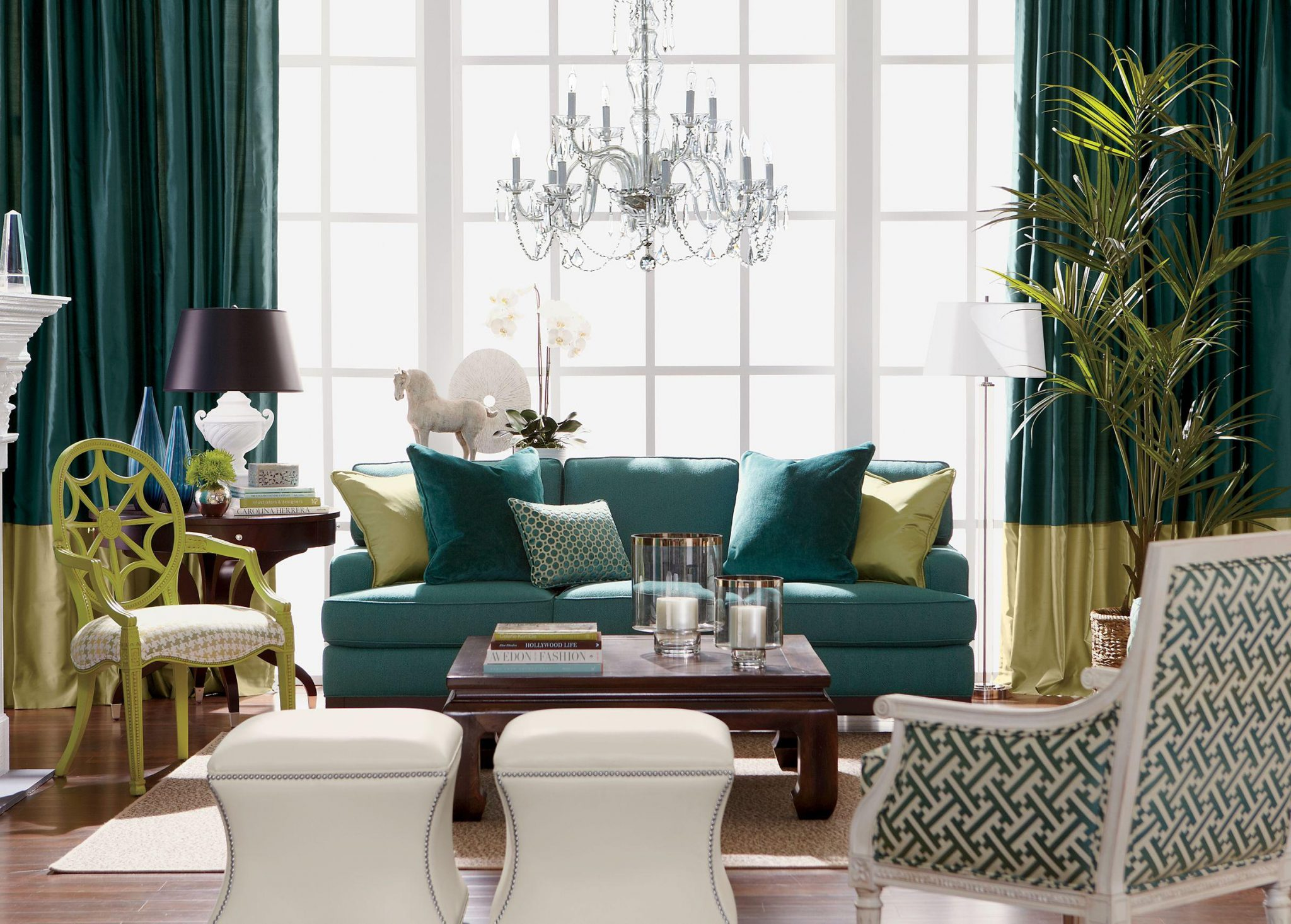 Magnificent blue-green living area
