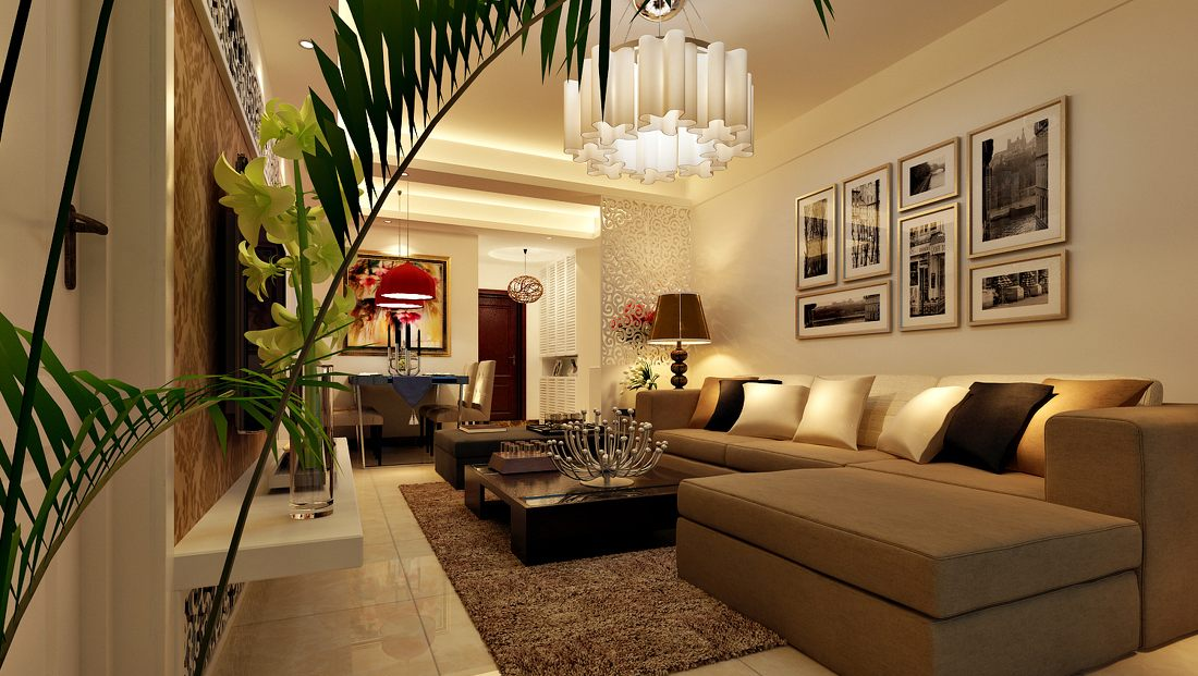Living room with wall decorations.  Source: designsbyroyalcreations.com
