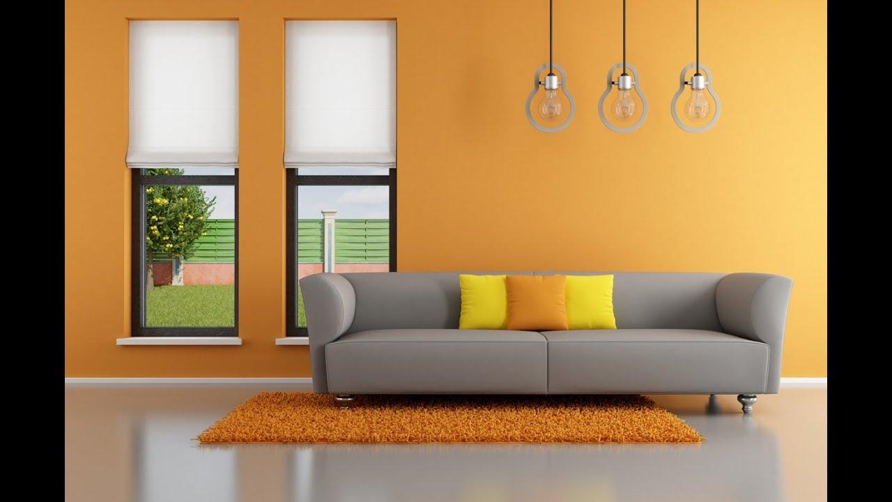 Light orange living room