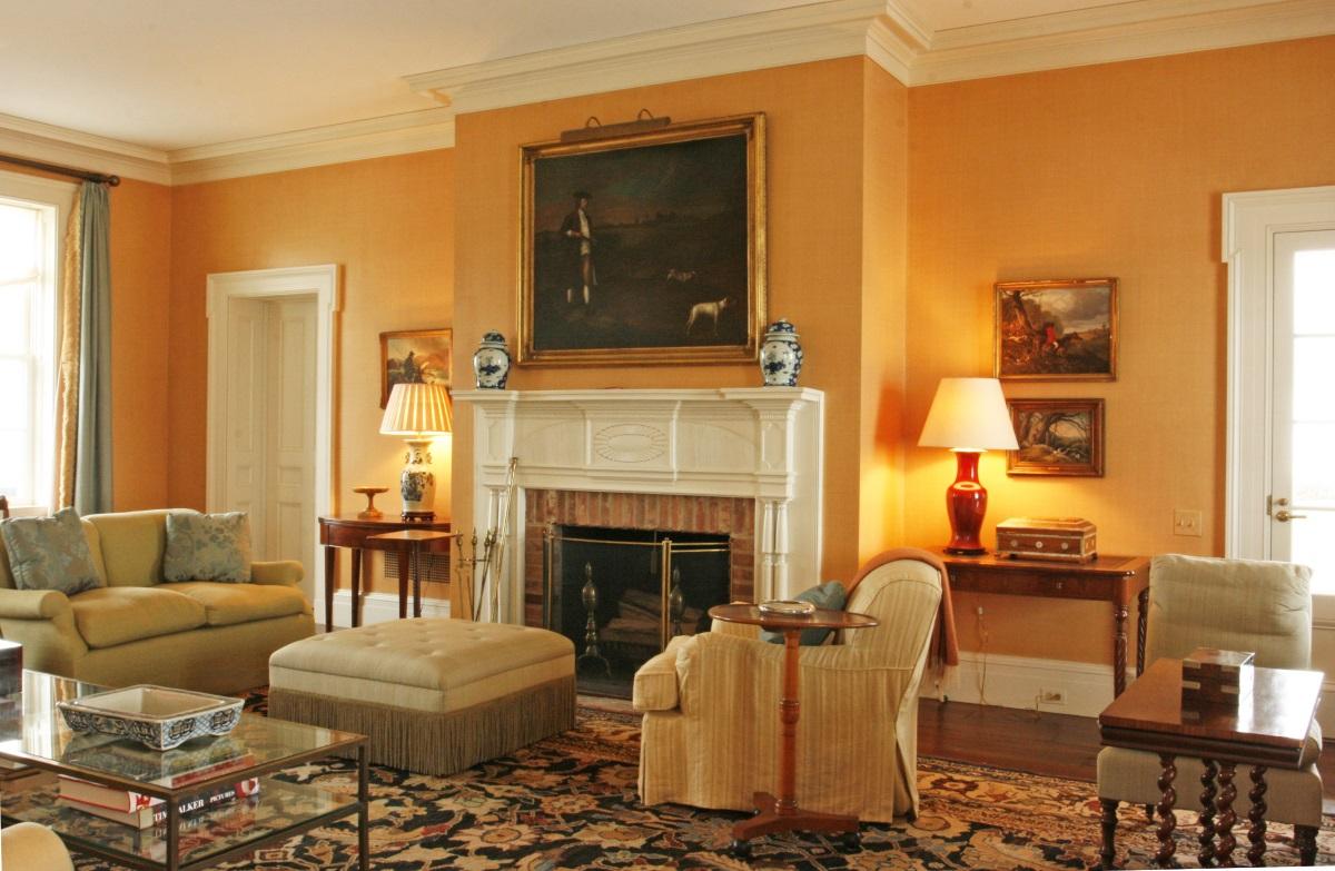 Classic orange living room