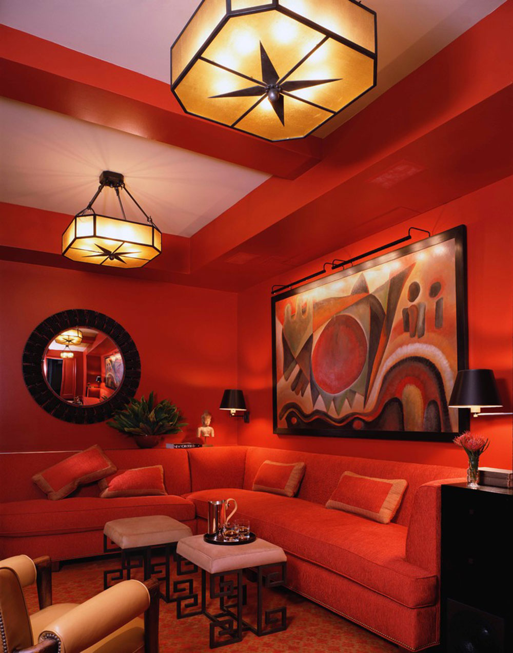 Almost all orange living rooms