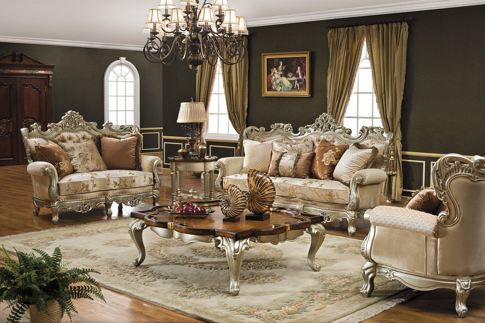 Glamorous and elegant living room