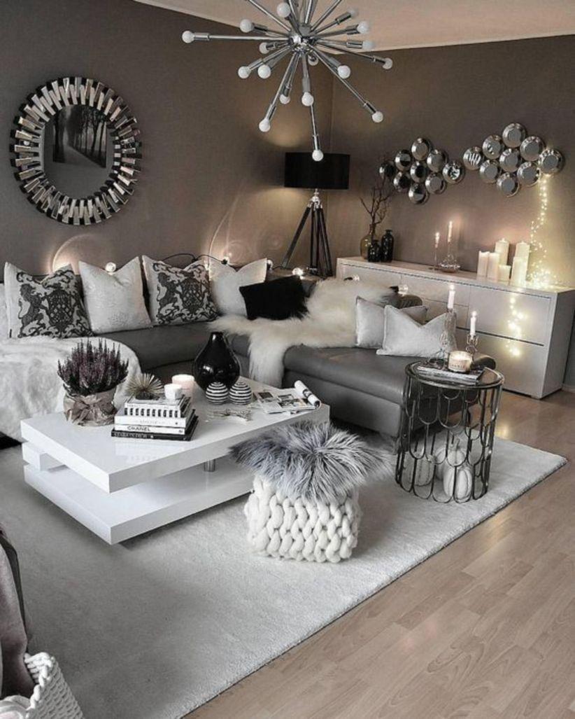 Modern glamorous living room