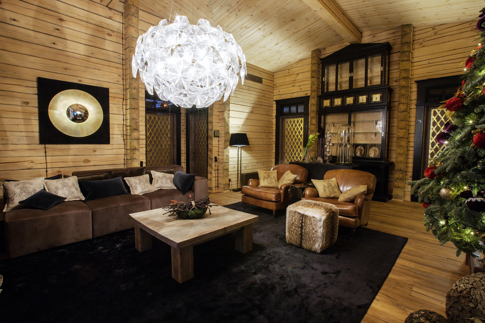Rustic touch in the elegant living room