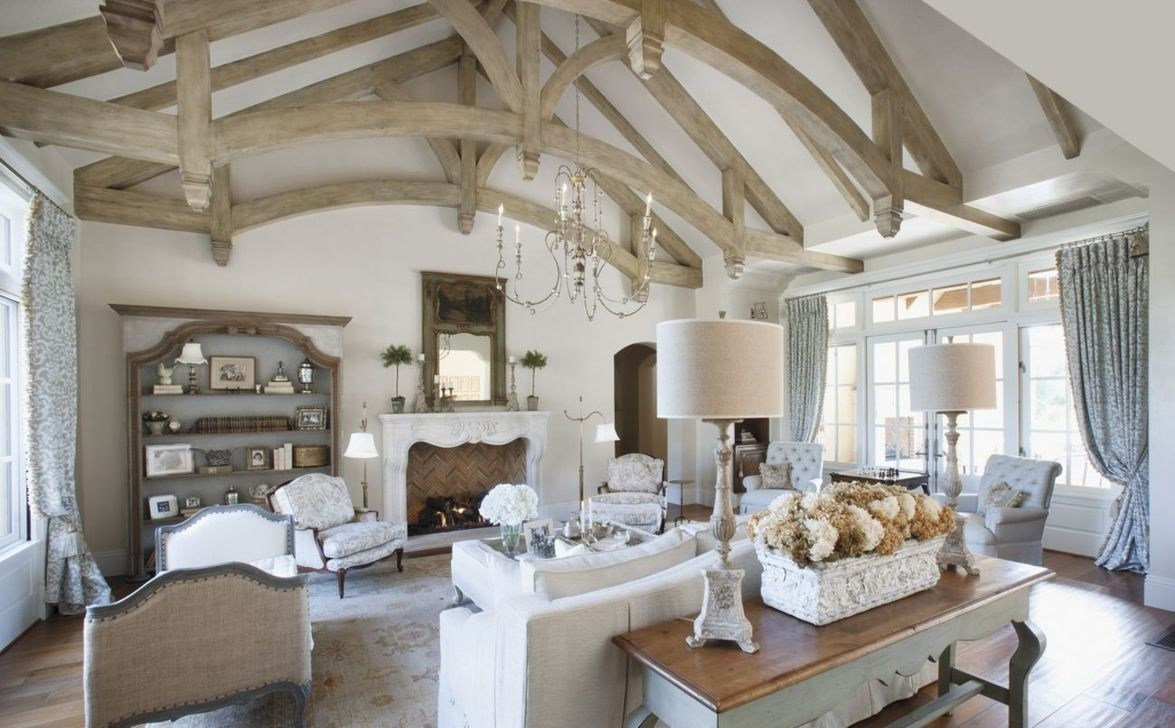 Graceful living room in the French countryside.