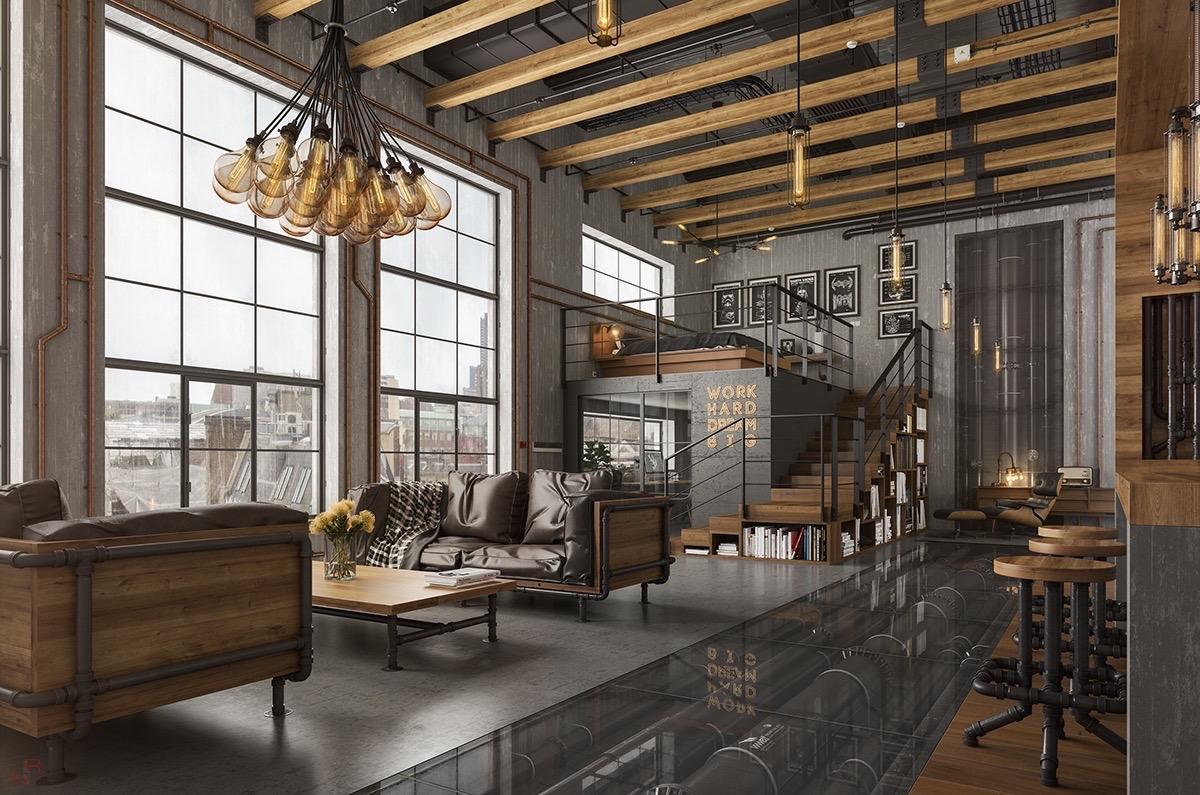 High living room ceiling.  Source: home-designing.com