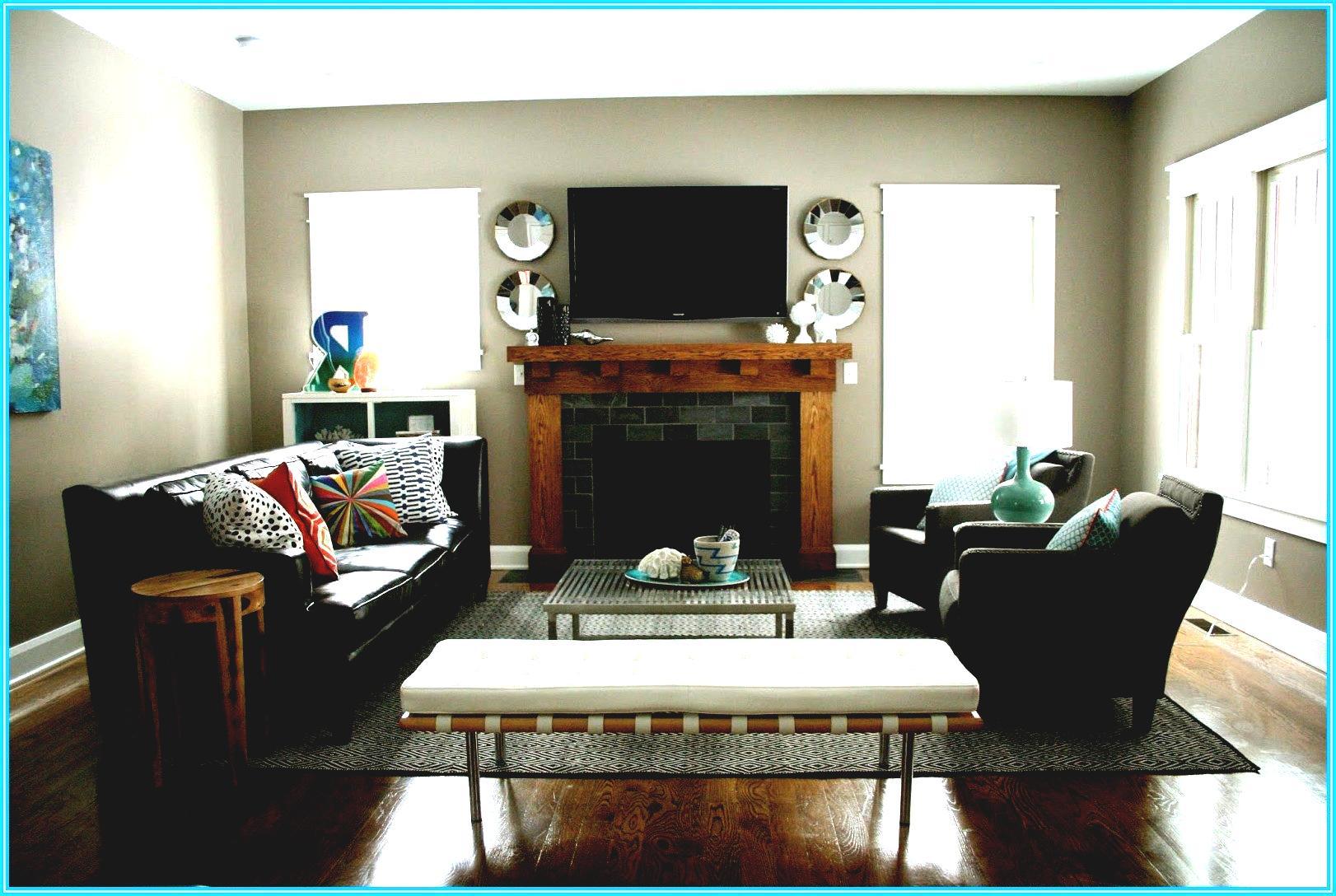 Tv over a fireplace.  Source: blueridgeparkwaymarathon.com