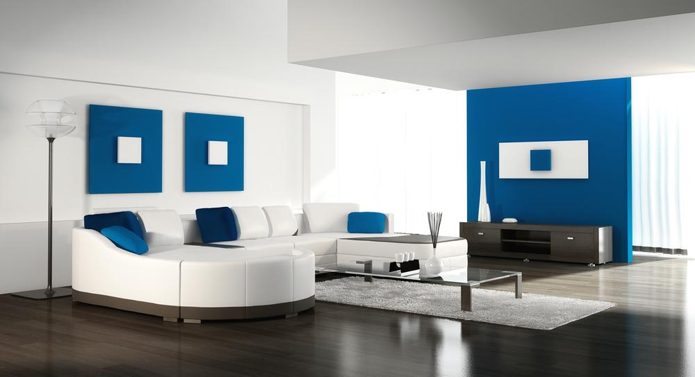 Parquet laminate living room floor