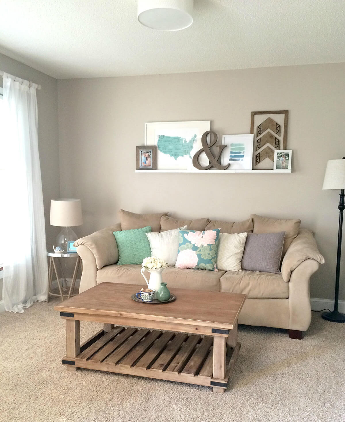 Beige small living room.  Source: Homebnc.com