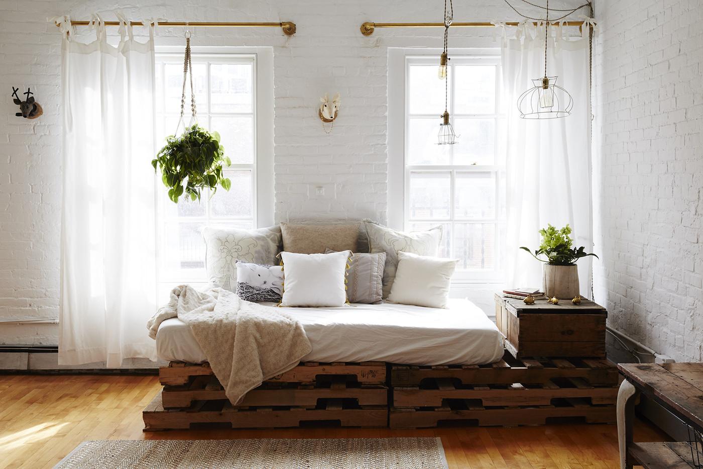 Rustic living room in the basement.  Source: Lonny.com