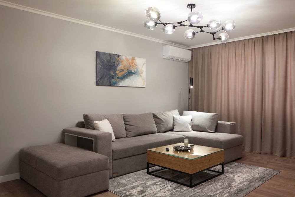 Vinyl living room floor