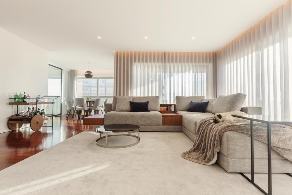 Airy modern living room
