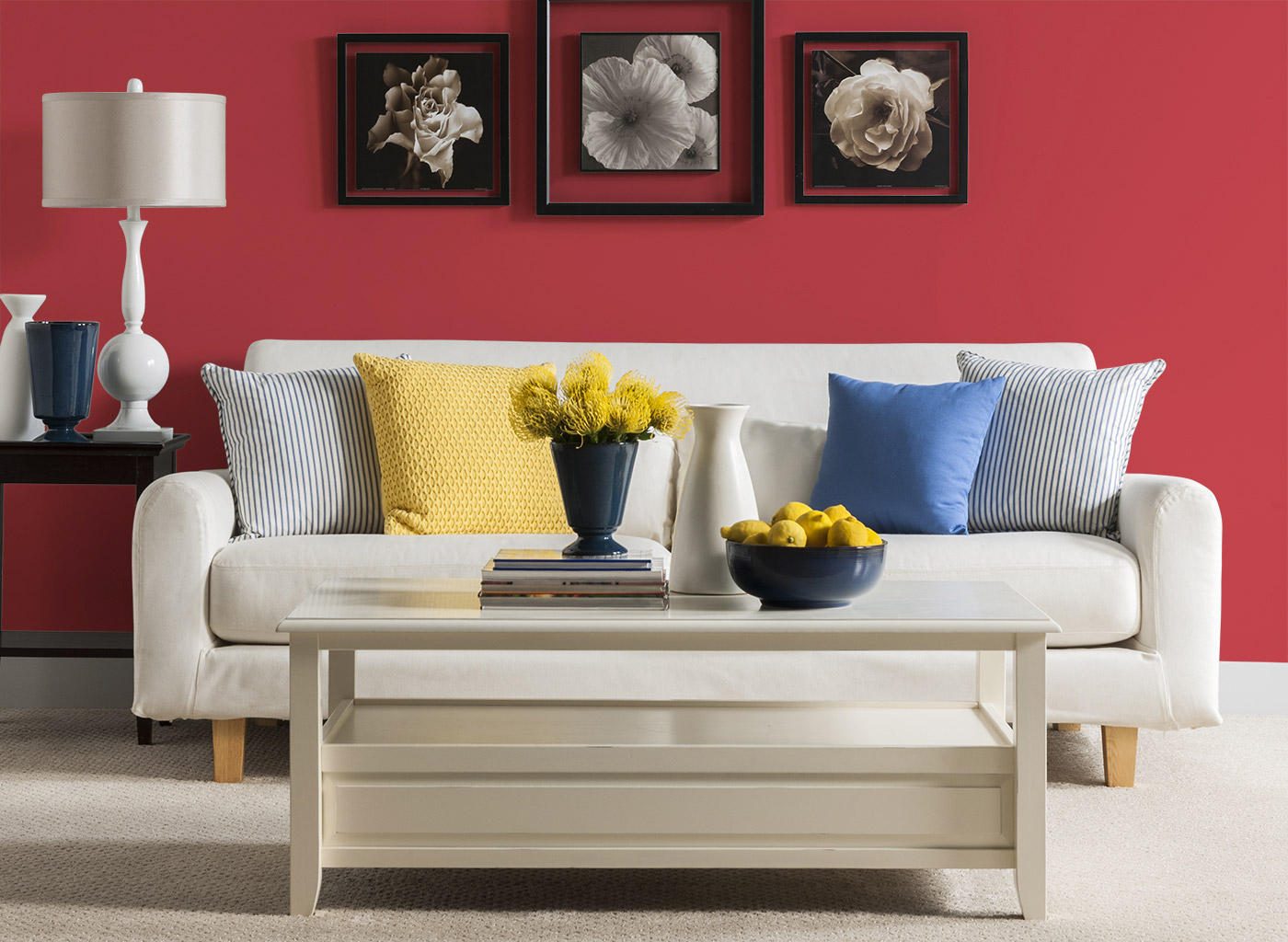 Living room color red.  Source: cil.ca.