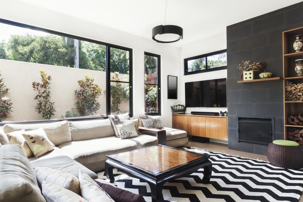 Compact modern living room
